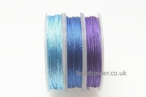 Blue - Purple Colours Polyester Thread Pack