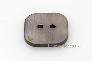 Natural Grey Shell Square Buttons