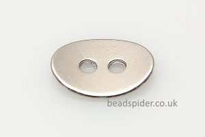 Silver Plated Oval Buttons