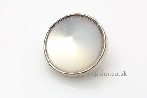 Silver Plate with Opalite Round Shank Buttons