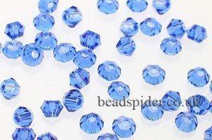 CBI309 Cobalt Blue Bi-cone  x 45