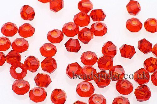 CBI412 Ruby Bi-cone  x 50