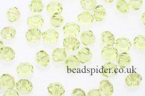 CBI519 Yellow Green Bi-cone  x 30