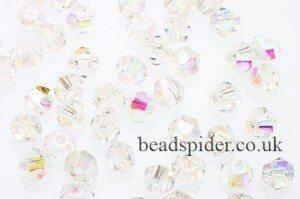 CBI629 Crystal AB Bi-cone  x 25
