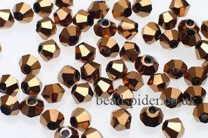 CBI639 Brass Bi-cone  x 25