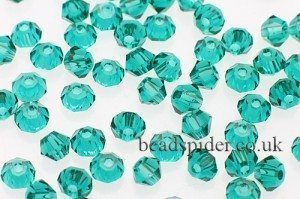 CBI341 Jade Bi-cone  x 45