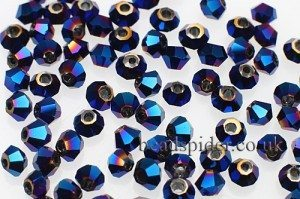 CBI547 Metalic Blue Bi-cone  x 30