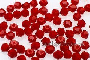 CBI349 Opaque Red Bi-cone  x 45
