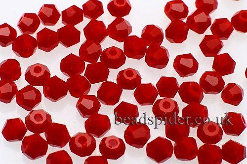 CBI449 Opaque Red Bi-cone  x 50