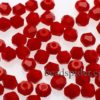CBI649 Opaque Red Bi-cone  x 25
