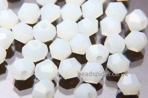 CBI554 Translucent White Bi-cone  x 30