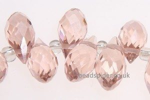 Rose Pink Crystal Drop
