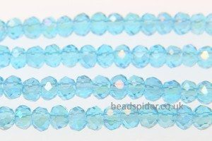 Light Blue AB Coated Crystal Donut