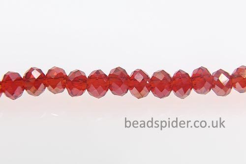 Ruby AB Coated Crystal Donut