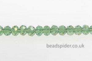 Spring Green AB Coated Crystal Donut