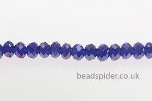 Cobalt Blue AB Coated Crystal Donut