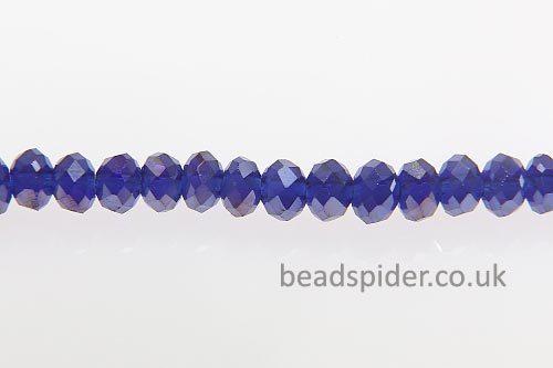 Cobalt Blue AB Coated Crystal Donut