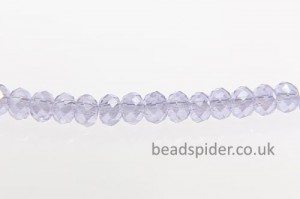 Periwinkle AB Coated Crystal Donut