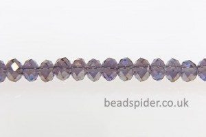 Purple AB Coated Crystal Donut