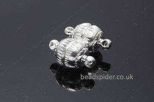 Magnetic Patterned Ball Clasp