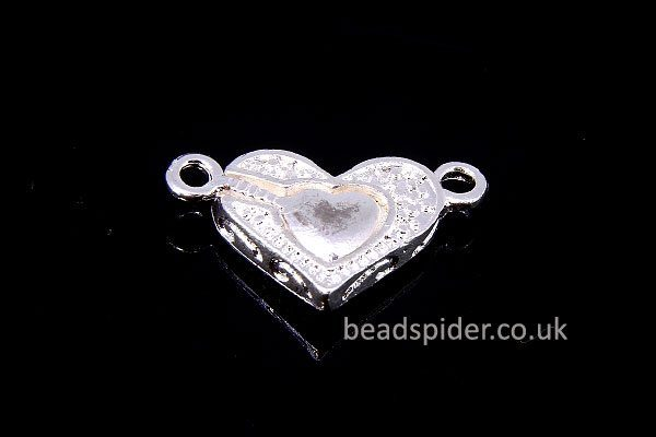 Magnetic Patterned Heart Lock Clasp