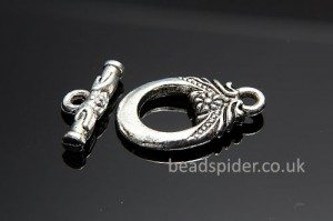 Floral Oval Toggle Clasp