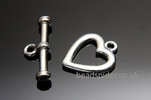 Plain Heart Toggle Clasp