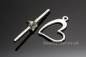 Thin Heart Toggle Clasp