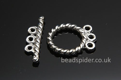 3 Strand Twisted Loop Toggle Clasp
