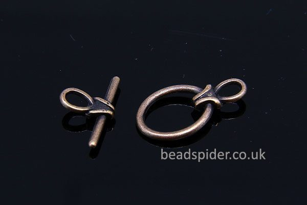 Antiqed Oval Toggle Clasps