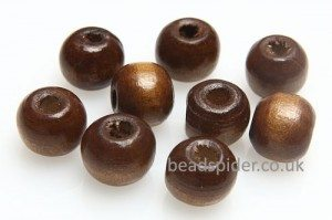 Wood Varnish Round Bead
