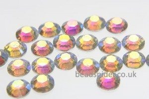 Clear AB Coated Glue-On Crystals