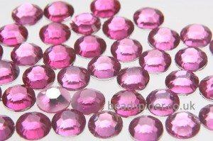 Magenta Glue-On Crystals