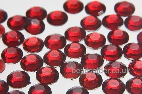 Ruby Glue-On Crystals
