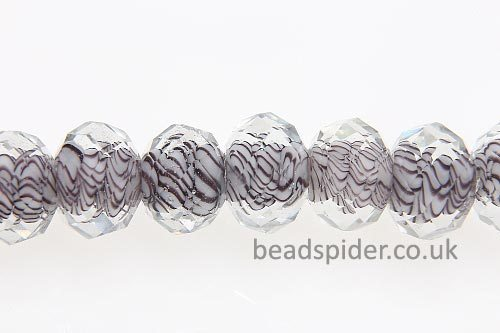Clear With Amethyst Core Swirls