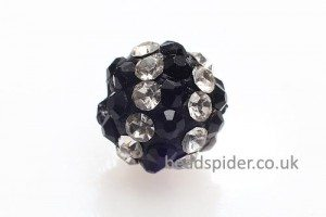 Crystal and Black Sparkle Ball