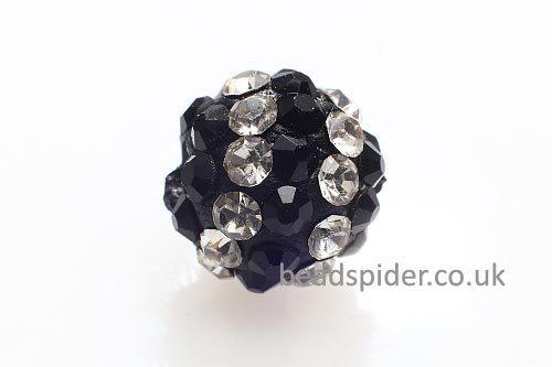 Crystal and Black Sparkle Ball