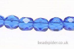Lustre Carpi Blue Czech Glass