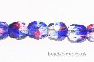 Amethyst Capri Blue Crystal Hurricane Czech Glass