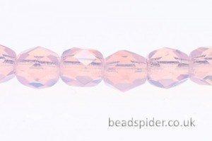 Opal Pink Crystal Czech Glass