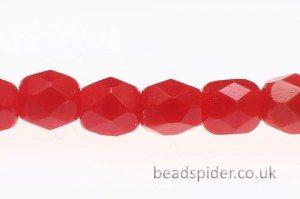 Opaque Red Czech Glass