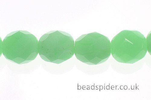 Opal Green Czech Glass