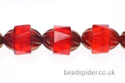 Ruby Bronze  Czech Glass