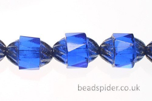 Capri Blue Silver  Czech Glass
