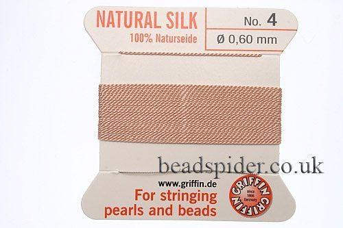 Nude 100% Silk Knotting Thread size 4