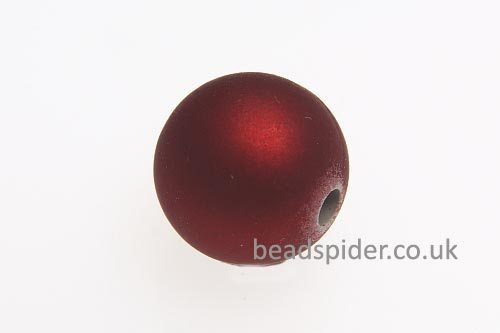 Red Satin Solaris Bead