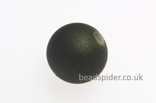 Olive Satin Solaris Bead