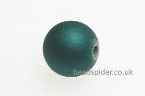 Teal Satin Solaris Bead