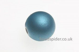 Sky Blue Satin Solaris Bead