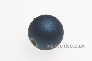 Steel Blue Satin Solaris Bead